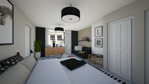 Bedroom redesign - Modern - Bedroom - by Tuija