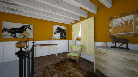 horse love - Rustic - Bedroom  - by minion1432