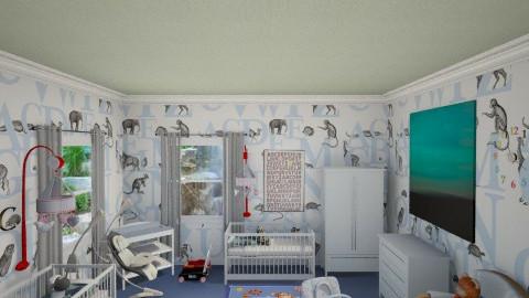TWIN BABY BOYS ROOM - Minimal - Kids room  - by DiamondJ569