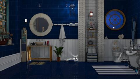 nautical - Bathroom  - by nat mi