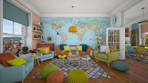 Vibrant Colours - Eclectic - Living room  - by maja97