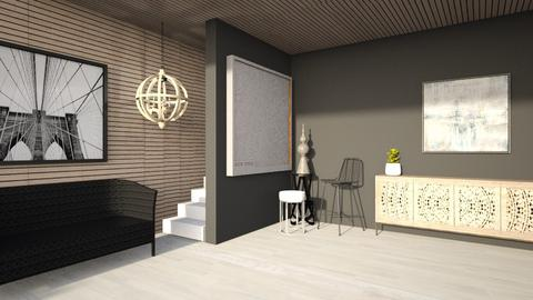 wooden wall - Living room  - by Swig
