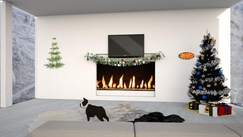Christmas wall - Living room  - by its lia