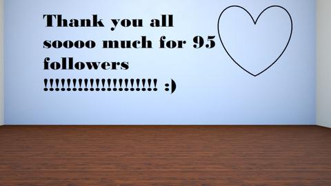 Thank you so much for 95  - by FANGIRLdesigner