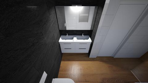 Badboven zwart - Bathroom  - by drogomirecka