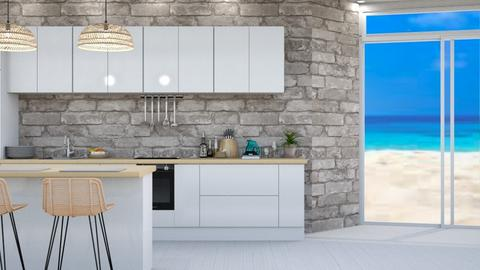 Ocean inspired kitchen 2 - Kitchen  - by Aristar_bucks