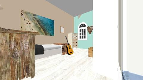 Beach_Teen_room - Rustic - Bedroom  - by BeautifulB