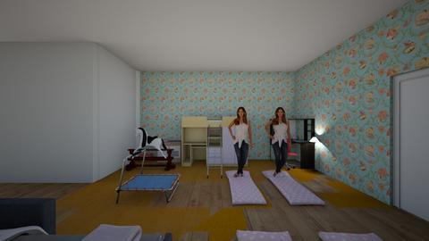 guset kids slepping area  - Kids room  - by unicornartlover