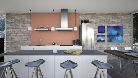 Container Kitchen - Retro - Kitchen  - by hellokiwe