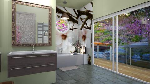 Cherry Blossom Bathroom - Bathroom  - by multifaceted13