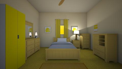 Mellow Yellow - Bedroom  - by mspence03
