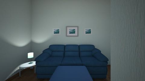 Blue themed room - Living room  - by victoriaamaya