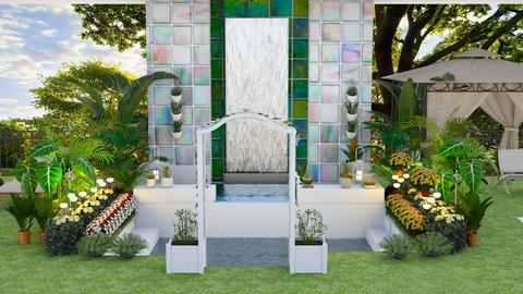 Fountain - Garden  - by Feeny
