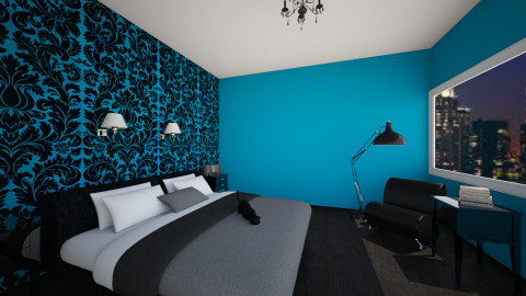 Black and Blue - Glamour - Bedroom - by a1is0n