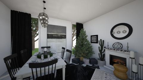Small Living Christmas - Dining room  - by Cara_Nicole