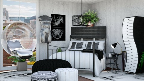fashion designer - Eclectic - Bedroom  - by annator