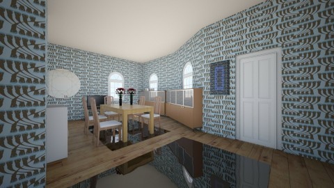RETRO  - Retro - Dining room - by callumip9