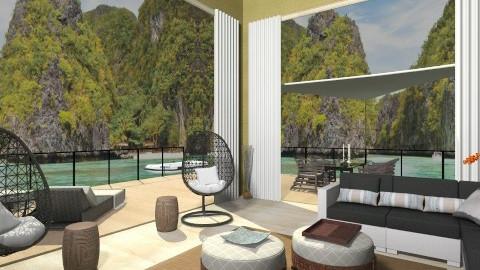 Bahay Kubo Living 2 - Eclectic - Living room  - by giulygi