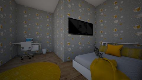 Mustard Bedroom  - Bedroom  - by horsesandcats21
