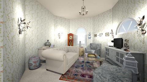 granny hexagon sitting  - Living room  - by minty_builds