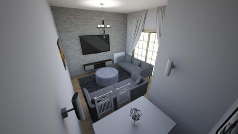 Minimalist salon 2 - Modern - Living room  - by filozof