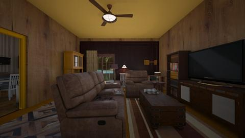 Cabin View - Living room  - by mspence03
