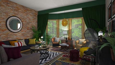Eclectic Living - Eclectic - Living room  - by  krc60