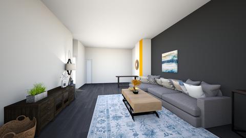 livingroom greysectional9 - Living room  - by lilsrox05