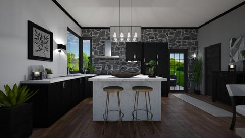 Black and elegant new - Kitchen  - by evelyn19