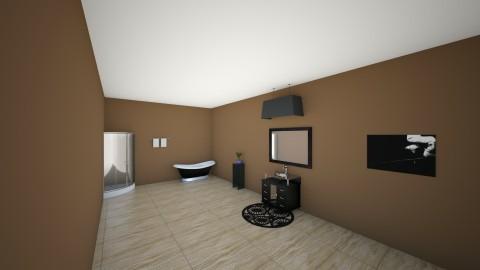 Stock Home Master Bath - Modern - Bathroom  - by hunteronstad