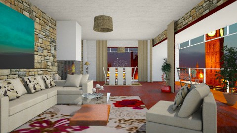cream room - Modern - Living room  - by analilia1900