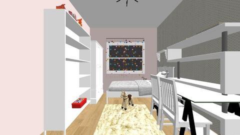 duzo miejsca malo mebli - Kids room - by aska525