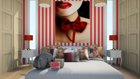 Red kiss - Glamour - Bedroom - by The Little World Of Jade