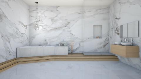 Marble Bath - Modern - Bathroom  - by Vampire_Kitty