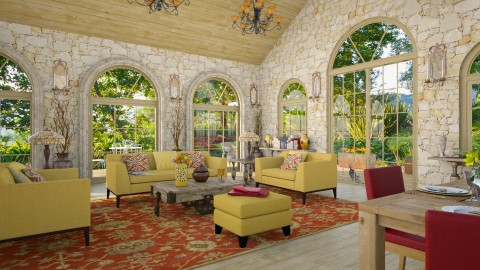 Design 304 Golden California Hills - Living room  - by Daisy320