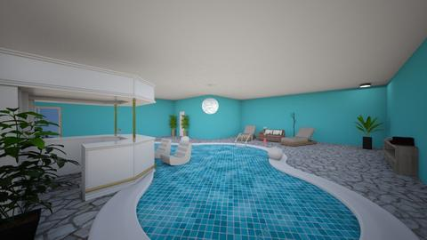 Tropical indoor pool - Modern - by yipperyapper