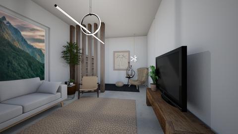 Living room of stuff - Minimal - Living room  - by milk07Designs
