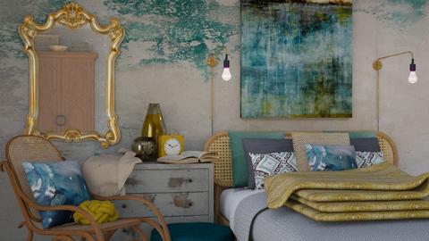 Turquoise bedroom - Modern - Bedroom  - by HenkRetro1960