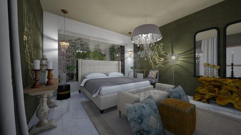 BedRoom _Garden_Interior_ - Glamour - Bedroom  - by Nikos Tsokos