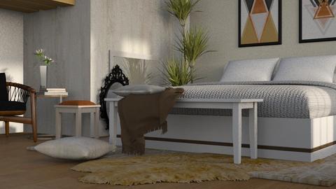 Warm Inside - Rustic - Bedroom  - by millerfam