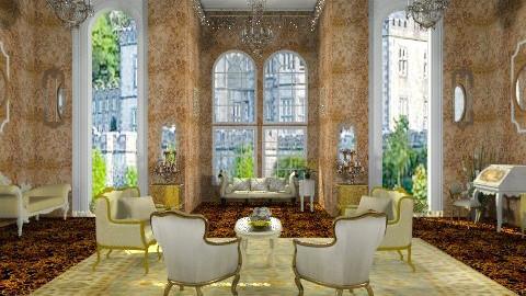 Gold salon---- - Rustic - Hallway  - by milyca8