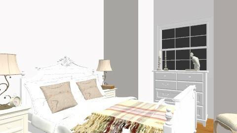 deer bedroom b - Rustic - Bedroom  - by sallykatie