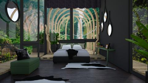 Jungle Paradise Bedroom - Bedroom - by ilikalle