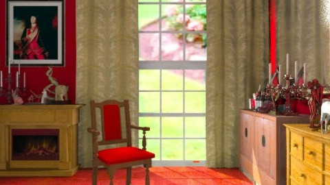 The Red Room: Jane Eyre - Classic - Bedroom  - by tinyteenie