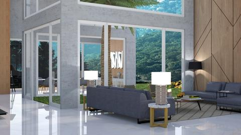 Risom II - Living room  - by aletamahi