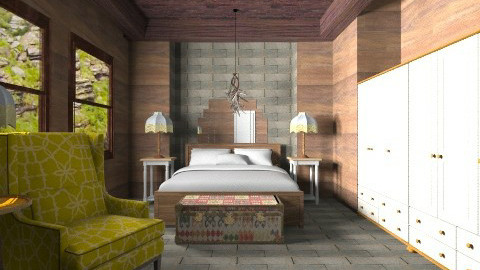 Cabana quarto da vic - Country - Bedroom  - by wagner herbst padilha