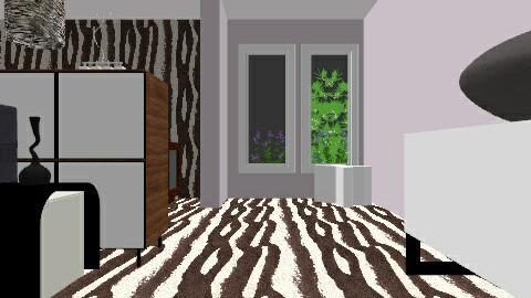 zebra bedroom - Glamour - Bedroom  - by snacks