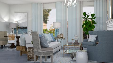 Calming and blue - Living room  - by georgianic