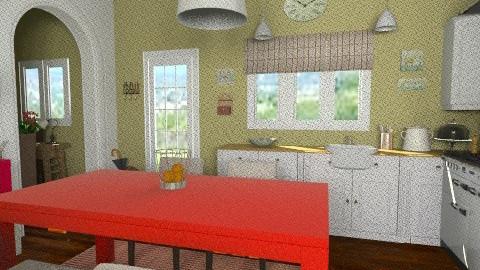 Cottage kitchenm - Country - Kitchen  - by Yoshi Yogataga