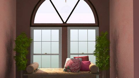 pink live - Rustic - Living room  - by chania